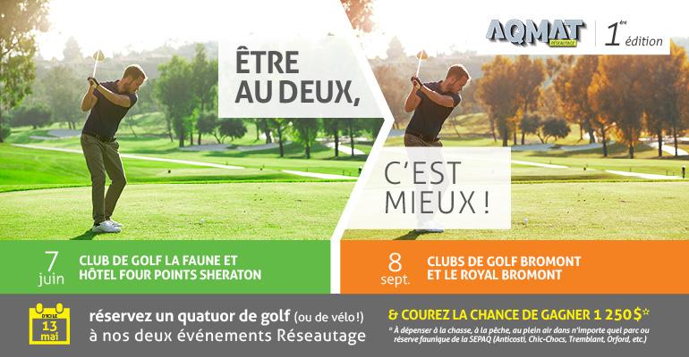 AQMAT - Promotion réseautage golf 2016