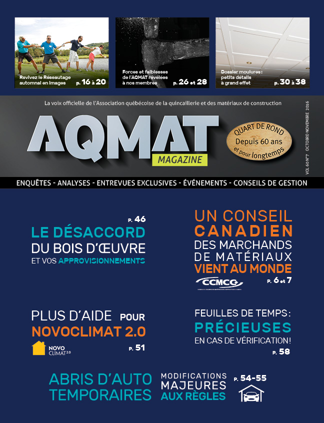 Magazine AQMAT - Octobre-novembre 2016