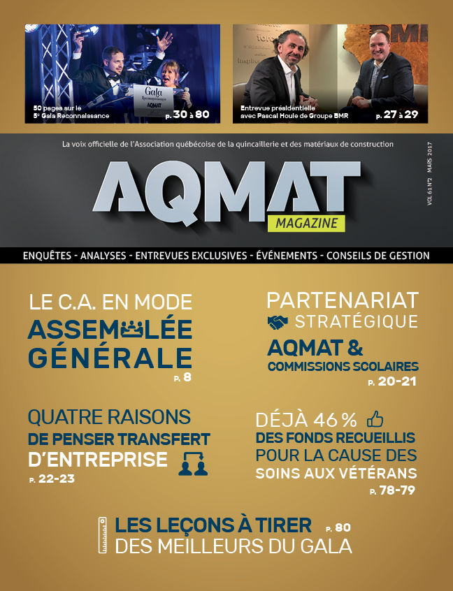 Magazine AQMAT Vol 61 No. 2 - mars 2017