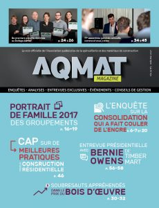 Magazine AQMAT Vol 61 No. 3 - avril/mai 2017